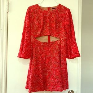 BCBG DRESS- Red fit and flare